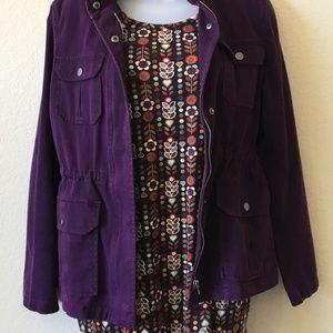 Loft   Purple Pocket Jean Jacket ♥ S